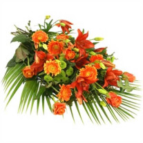 Funeral Sheaf with Ribbon